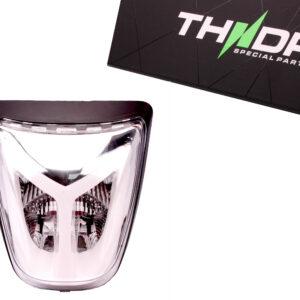 Achterlichtunit compleet met unieke LED tubing in transparant glas | Vespa Primavera / Sprint